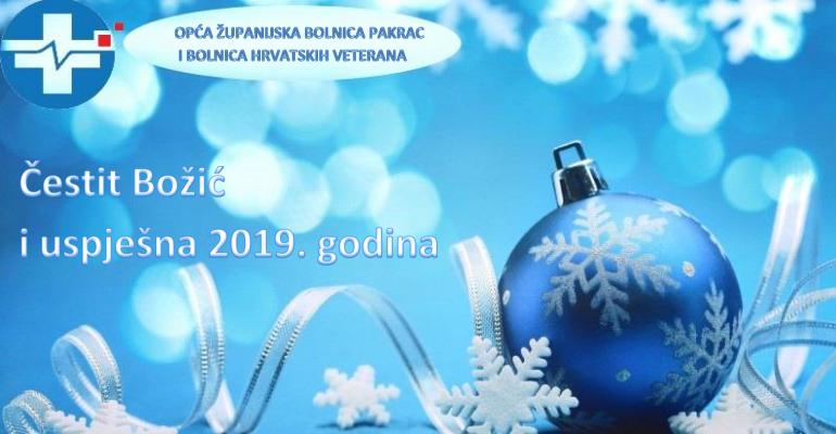 ČESTIT BOŽIĆ I USPJEŠNA 2019. GODINA
