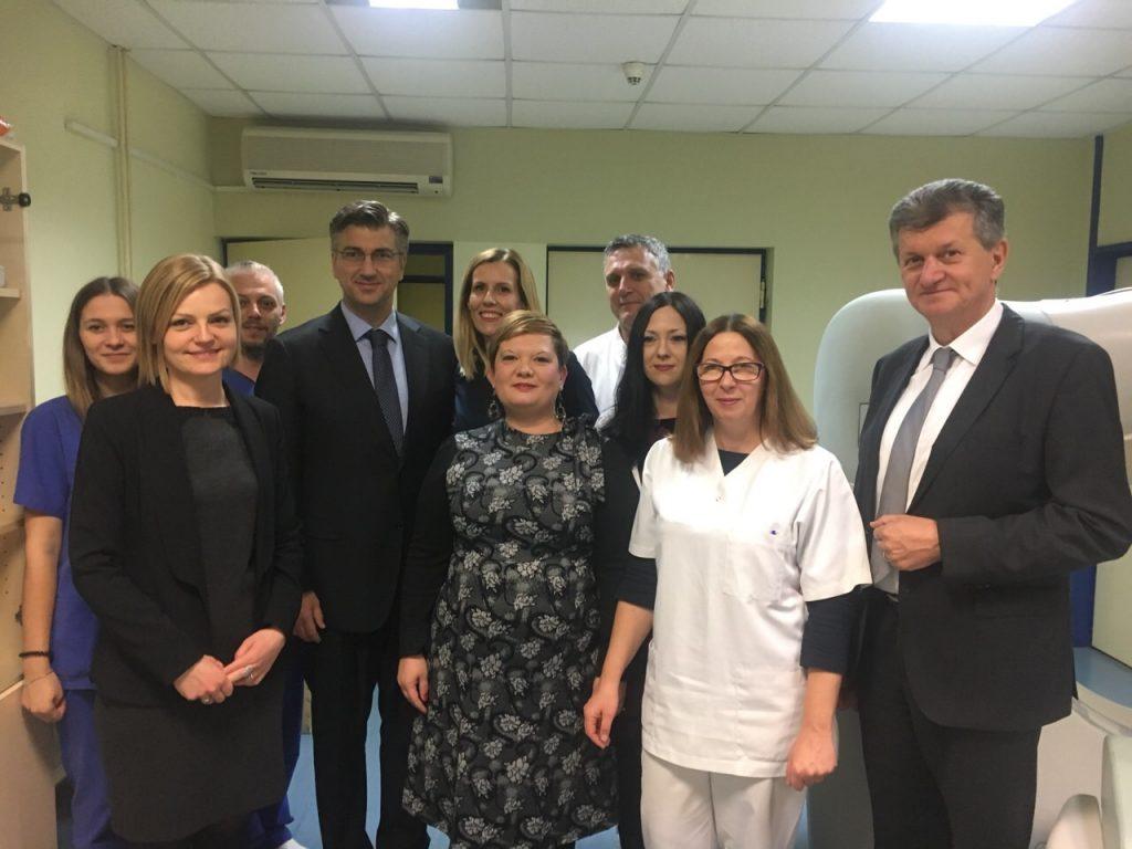 Premijer Plenković i ministar zdravstva Kujundžić u OŽB Pakrac i BHV